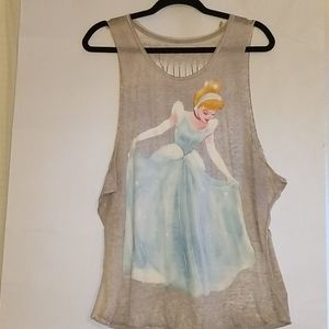 Disney Princess T Shirt with cut out back panel.